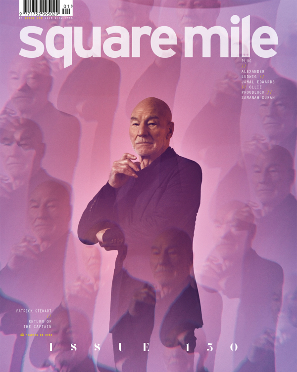 Patrick Stewart photographed for Square Mile by Maarten de Boer