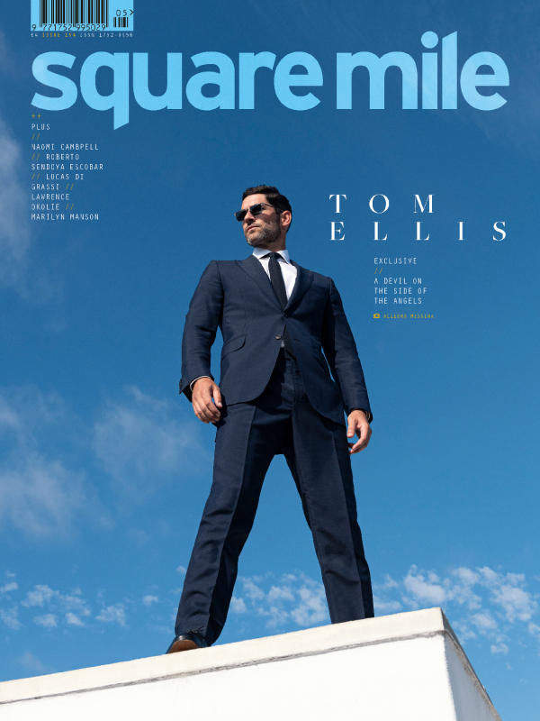 Tom Ellis photographed for Square Mile magazine by Allegra Messina