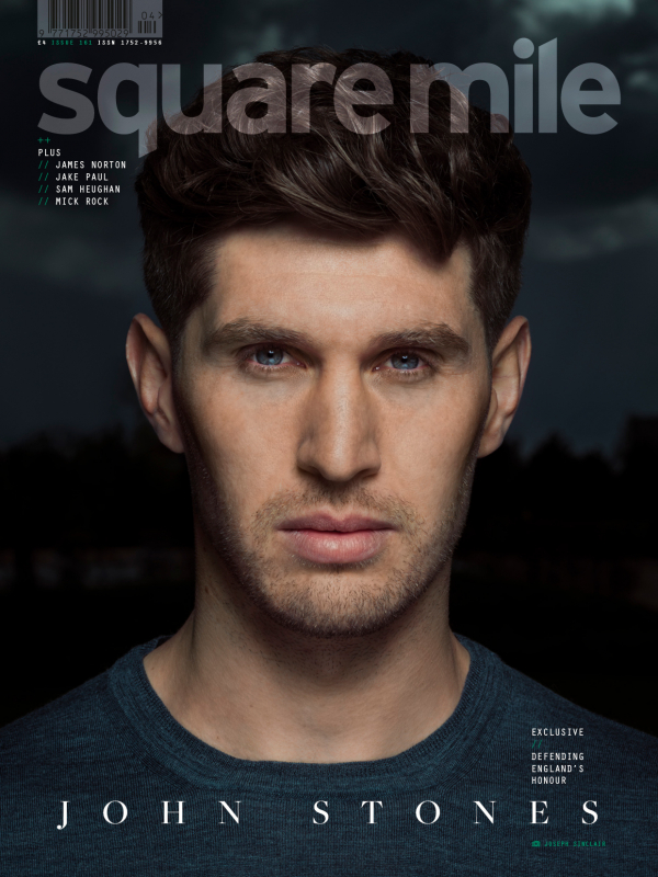 John Stones photographed for Square Mile by Joseph Sinclair