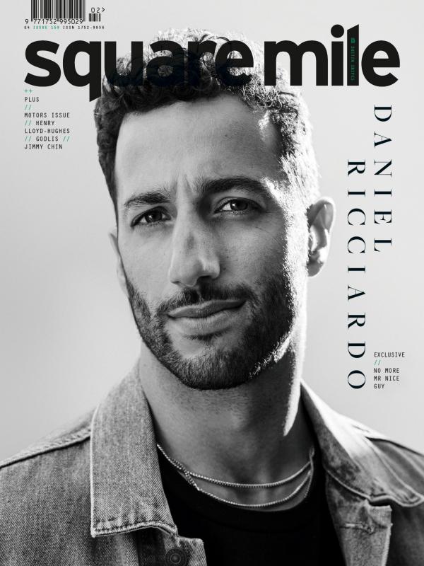 Daniel Ricciardo photographed for Square Mile by Dustin Snipes